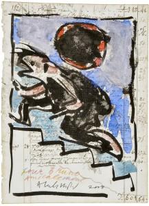 Pierre Alechinsky, aquarelle originale pour André Breton (Julien Grecq et Joe Bousquet, Fata Morgana 2008)