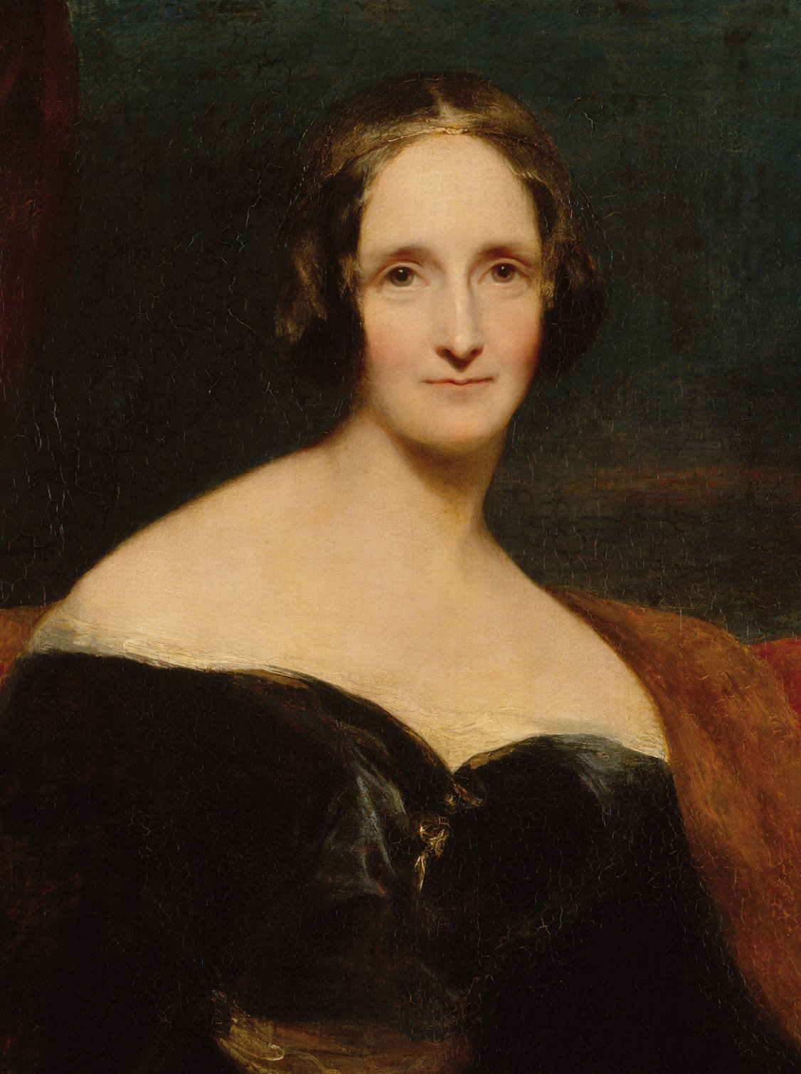 Mary Wollstonecraft Shelley par Richard Rothwell. Huile sur toile