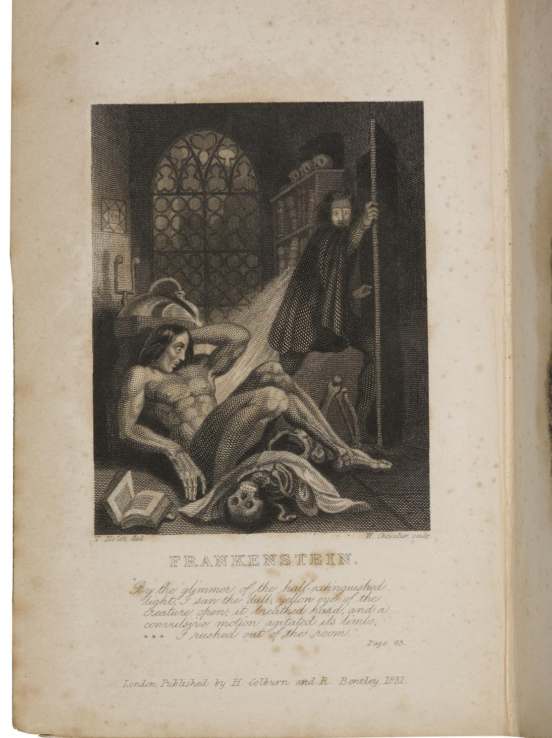 Couverture de l'édition de Frankenstein de 1831. Bodleian-P