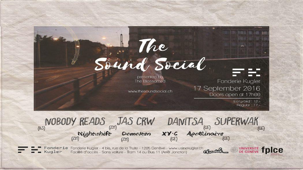 La soirée The Sound Social aura lieu le 19 septembre à la Fonderie Kugler