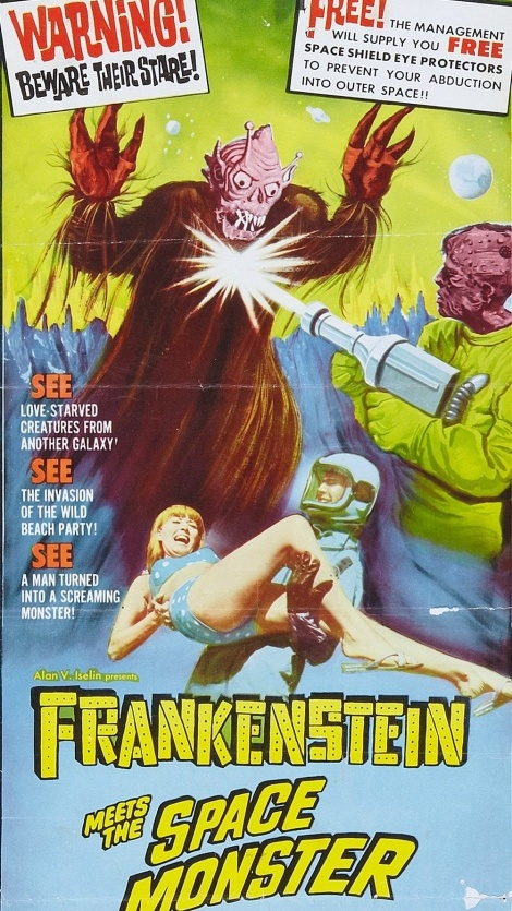Affiche originale de Frankenstein Meet the Space Monster (Robert Gaffney, 1965)