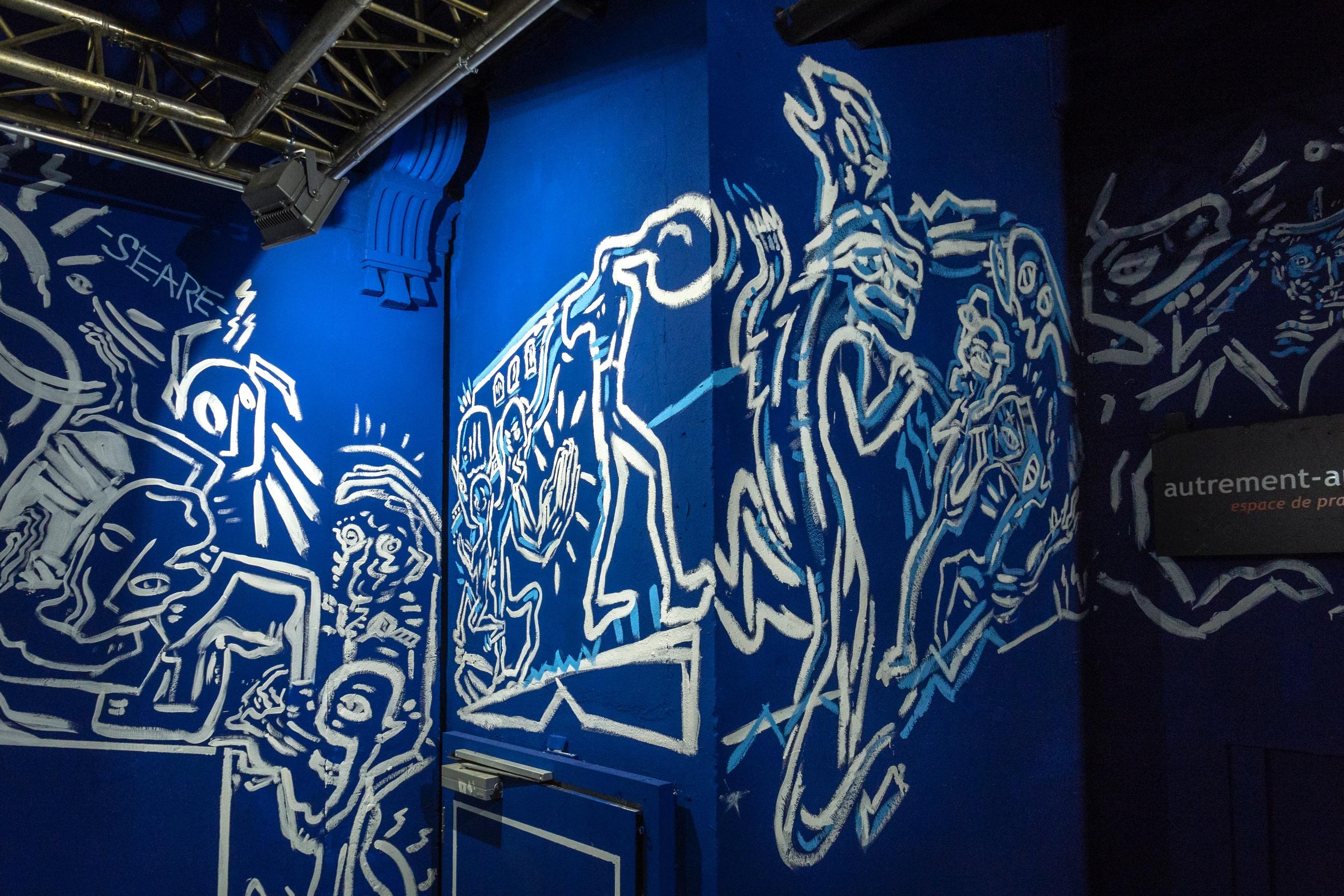 Détail de la fresque dans l'Usine (Crédits : Gohan Keller)