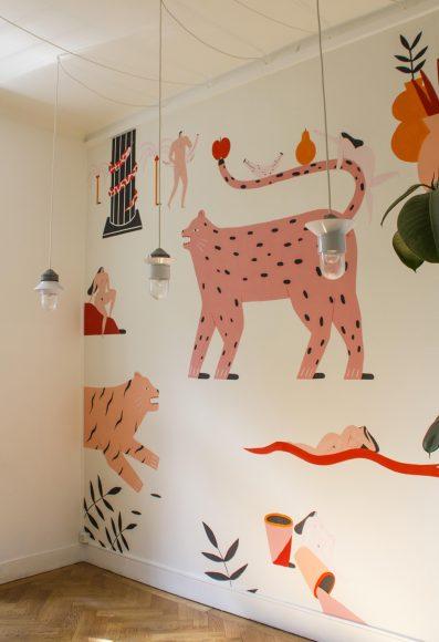 Fresque réalisée lors de son exposition à Oubienencore